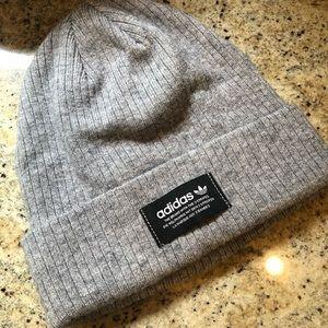 Adidas Gray Grey Knit Beanie Hat NEW